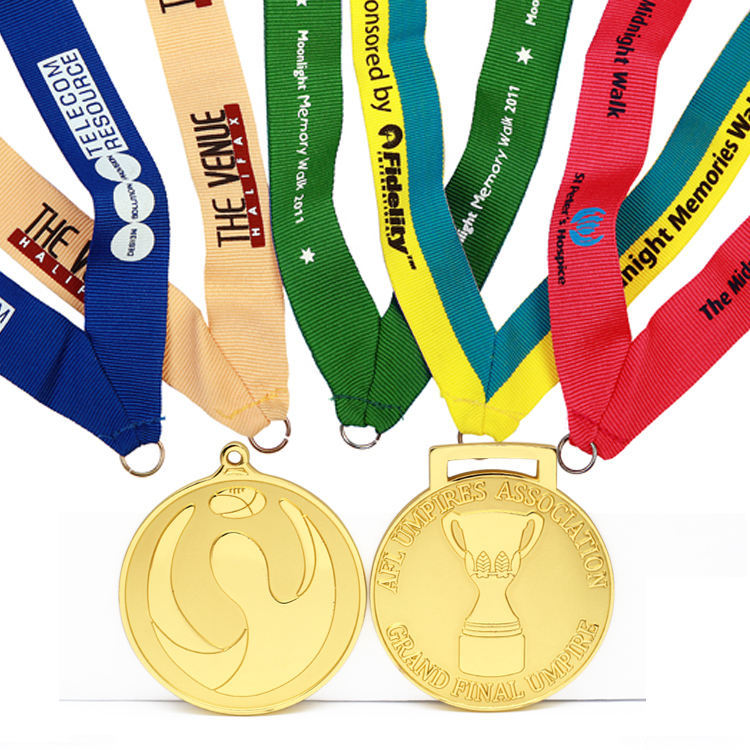 새 두 번 Sided 100% Polyester Satin Custom 장식 만드는 법 Medal Ribbon