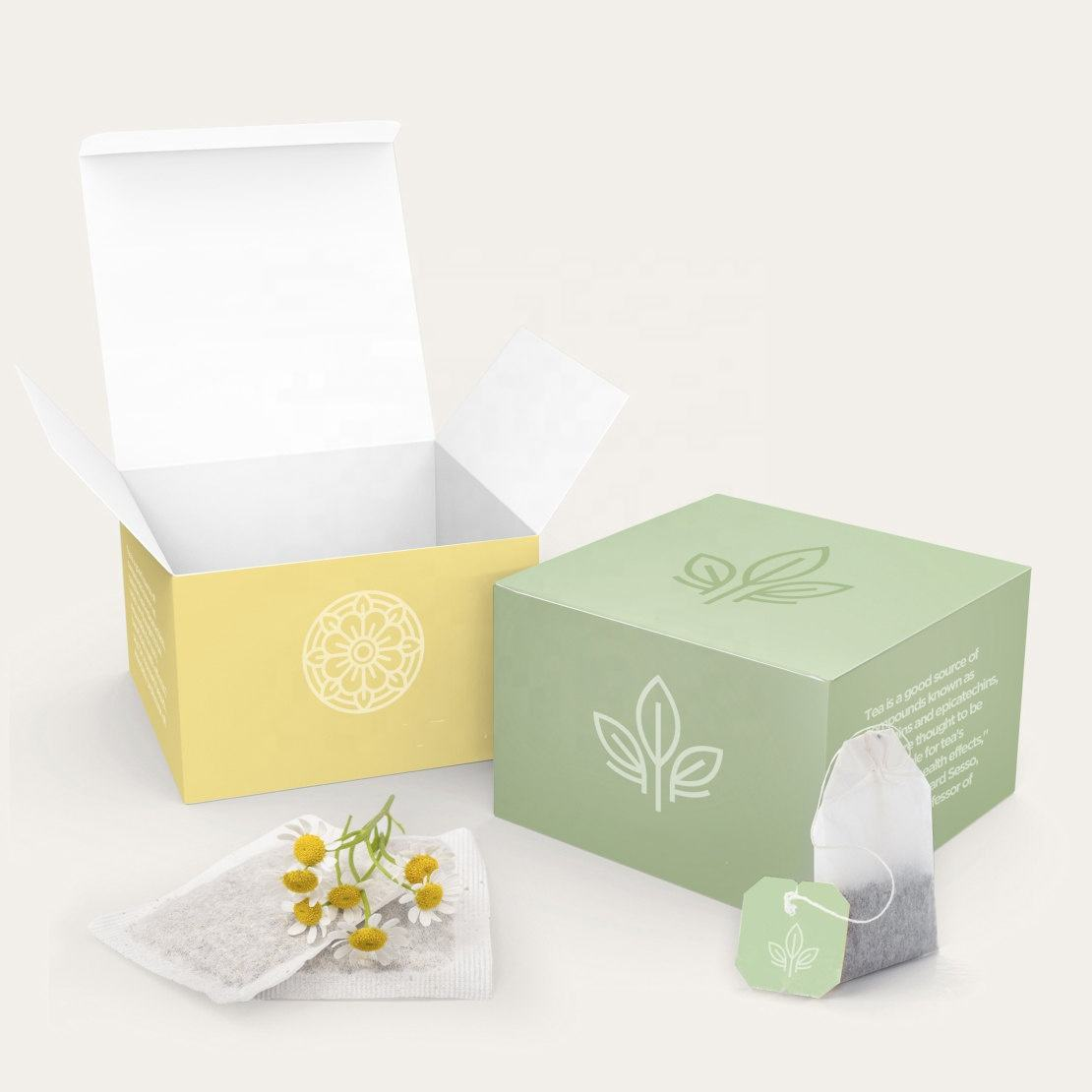 Fancy Design Art Paper Box Package With Colorful Printing For Tea Packaging