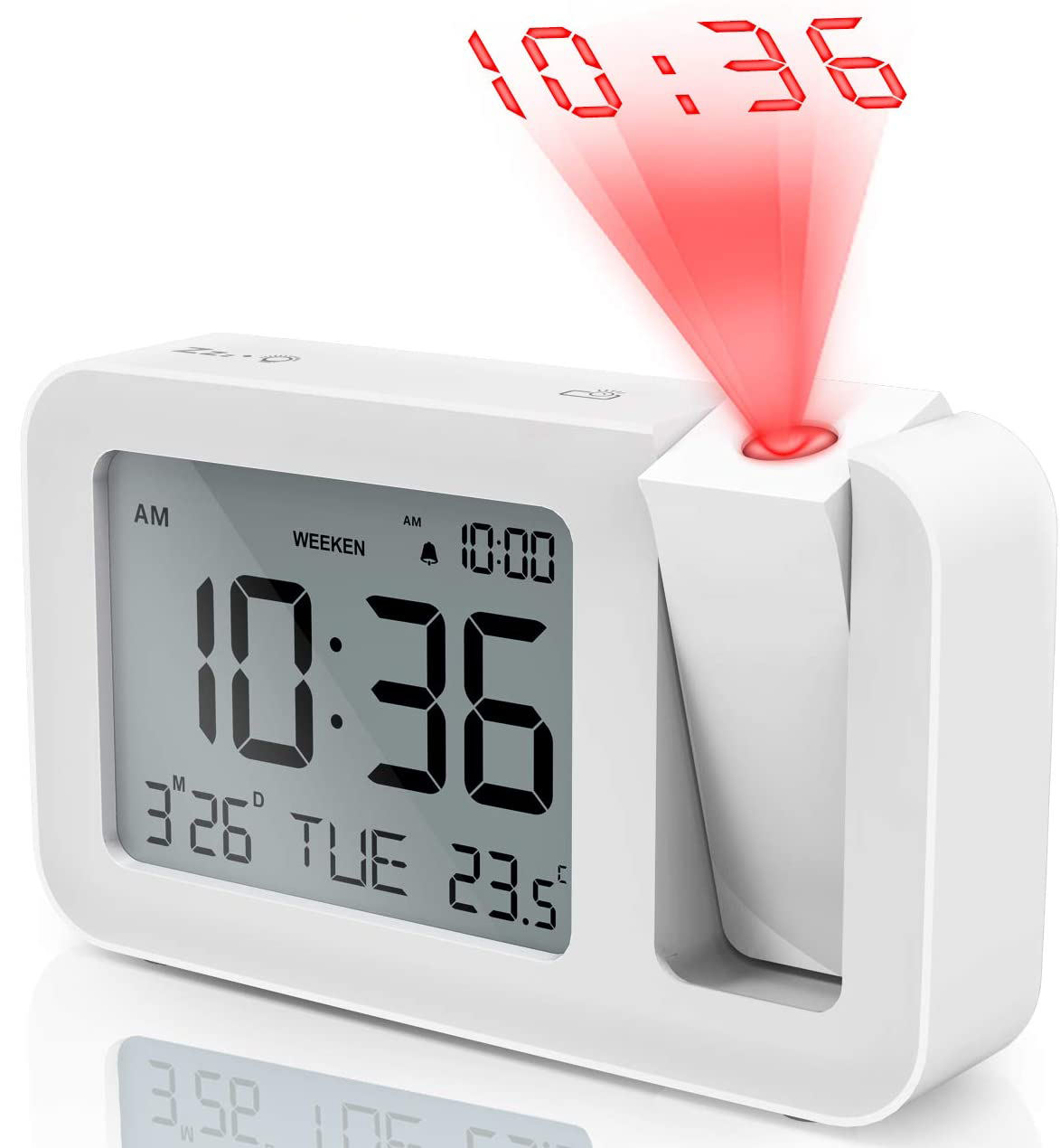 Small Electronic Alarm Clock With Blue Backlight For Promotional Gift