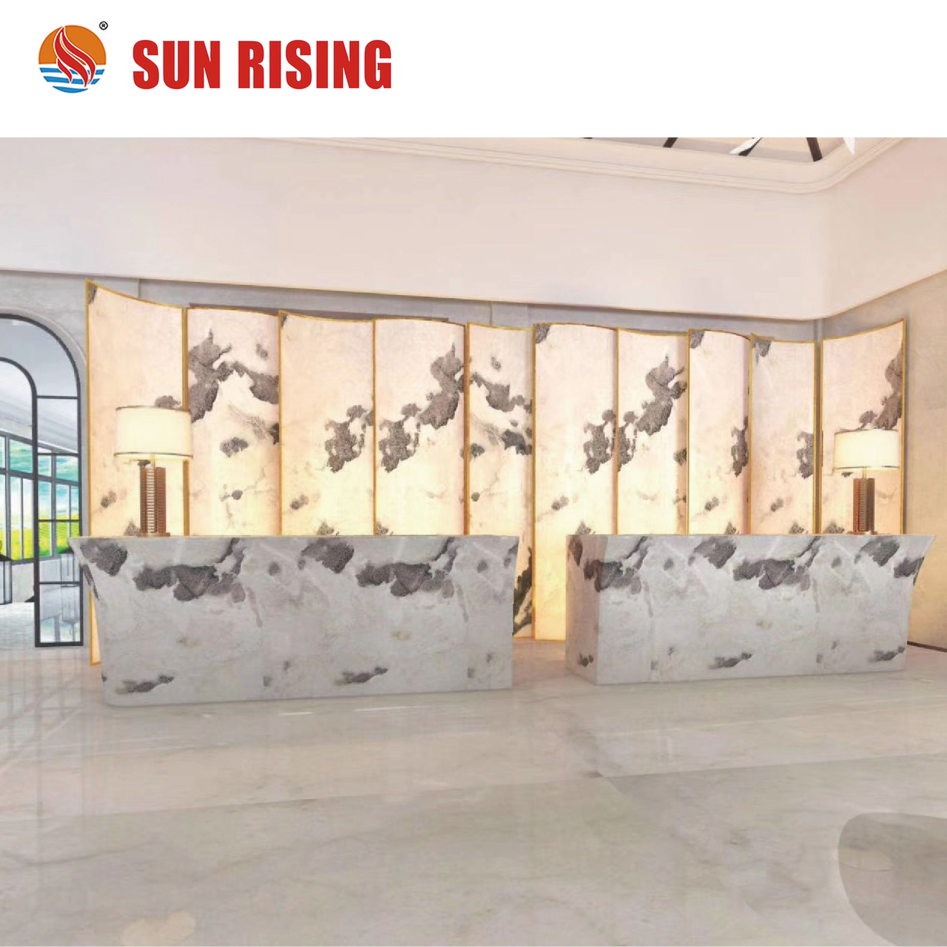 Backlit White Onyx Stone Slab For Wall Decoration