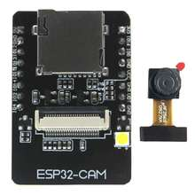 ESP32-CAM Camera WiFi + Bluetooth Module 4M PSRAM Dual-core 32-bit CPU Development Board with OV2640 2MP Camera Module Support