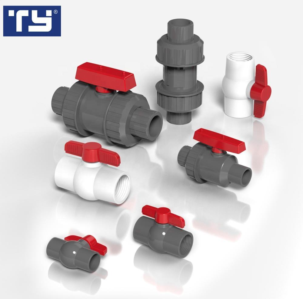 China hot sale TY manufacture brand Plastic PVC pipe fitting Ball Valve