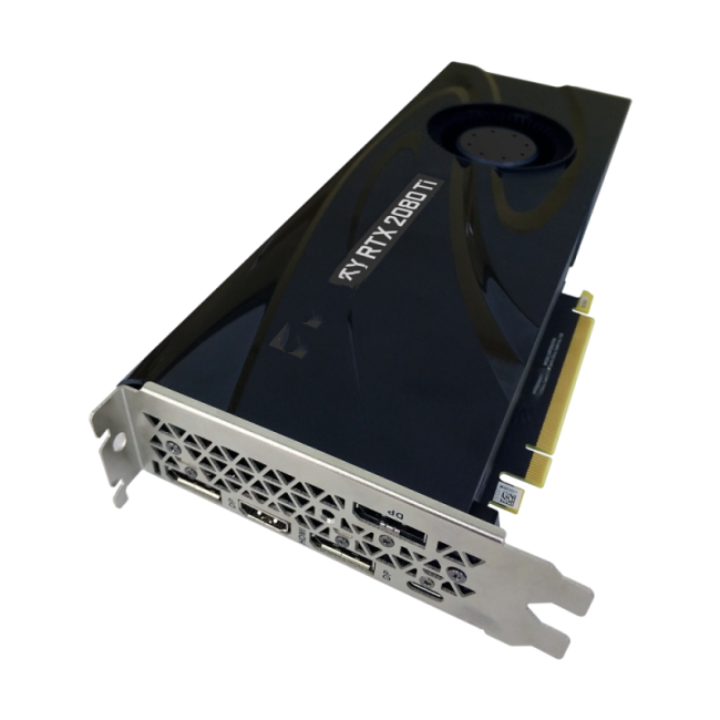 PNY VCG2080T11BLMPB GeForce RTX 2080 Ti 11GB 송풍기 <span class=keywords><strong>그래픽</strong></span> 카드