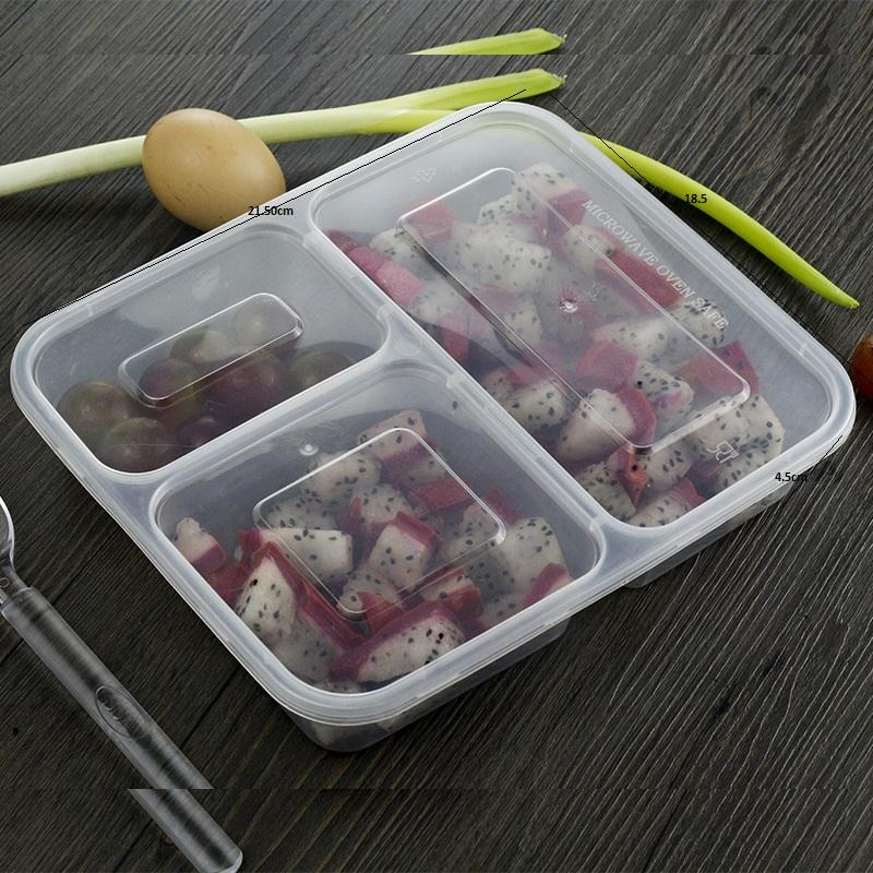 disposable plastic 3 compartment food container/3compartment lunch box disposable
