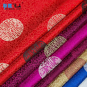 Chinese Suppliers Clothing Dress Unique Fabric Jacquard Brocade 100% Polyester Fabric For Home Textile