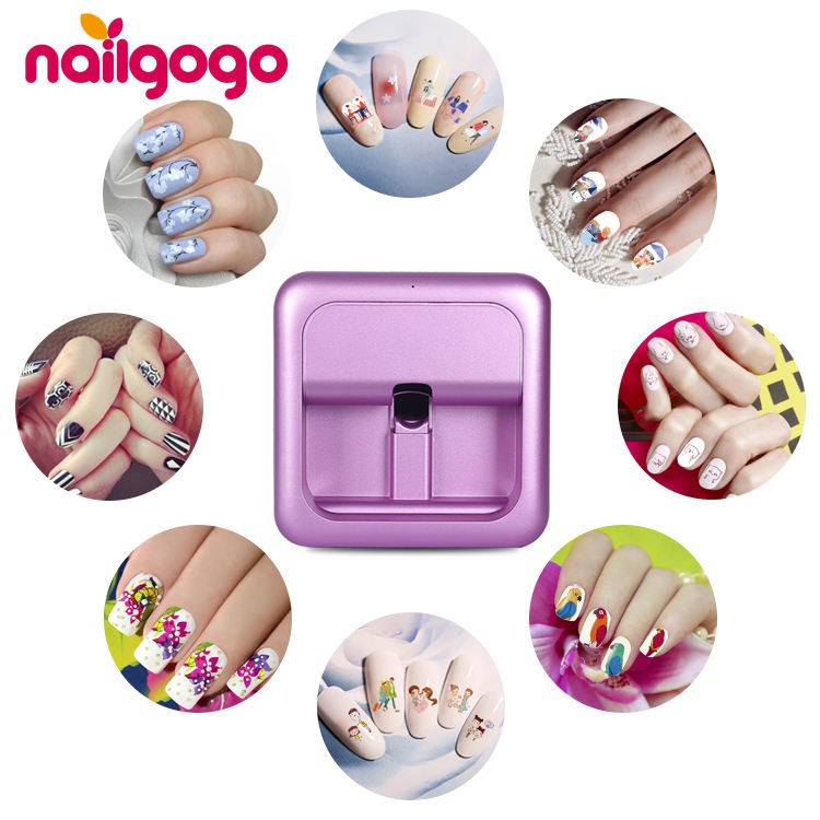 Nailgogo digital blumen wifi 3d nagel drucker smart design intelligente nagel drucker maschine