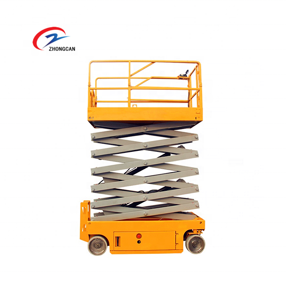6-14m 200kg 500kg hydraulic battery power AC DC mini small electric scissor lift with CE