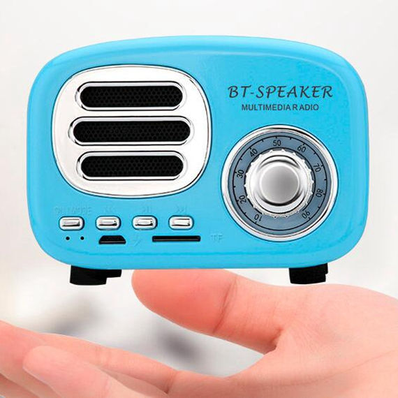 Vintage Small Multimedia Mini Retro Speaker Bluetooth with Fm Radio