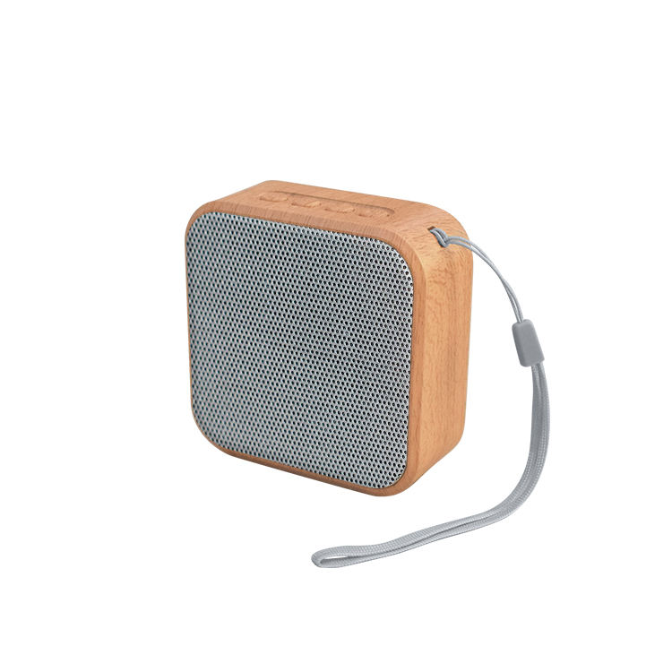 A60 Kayu Gigi Biru Speaker Portable Wireless FM Radio Audio TF Kartu USB Handsfree Outdoor Kayu Mini Speaker