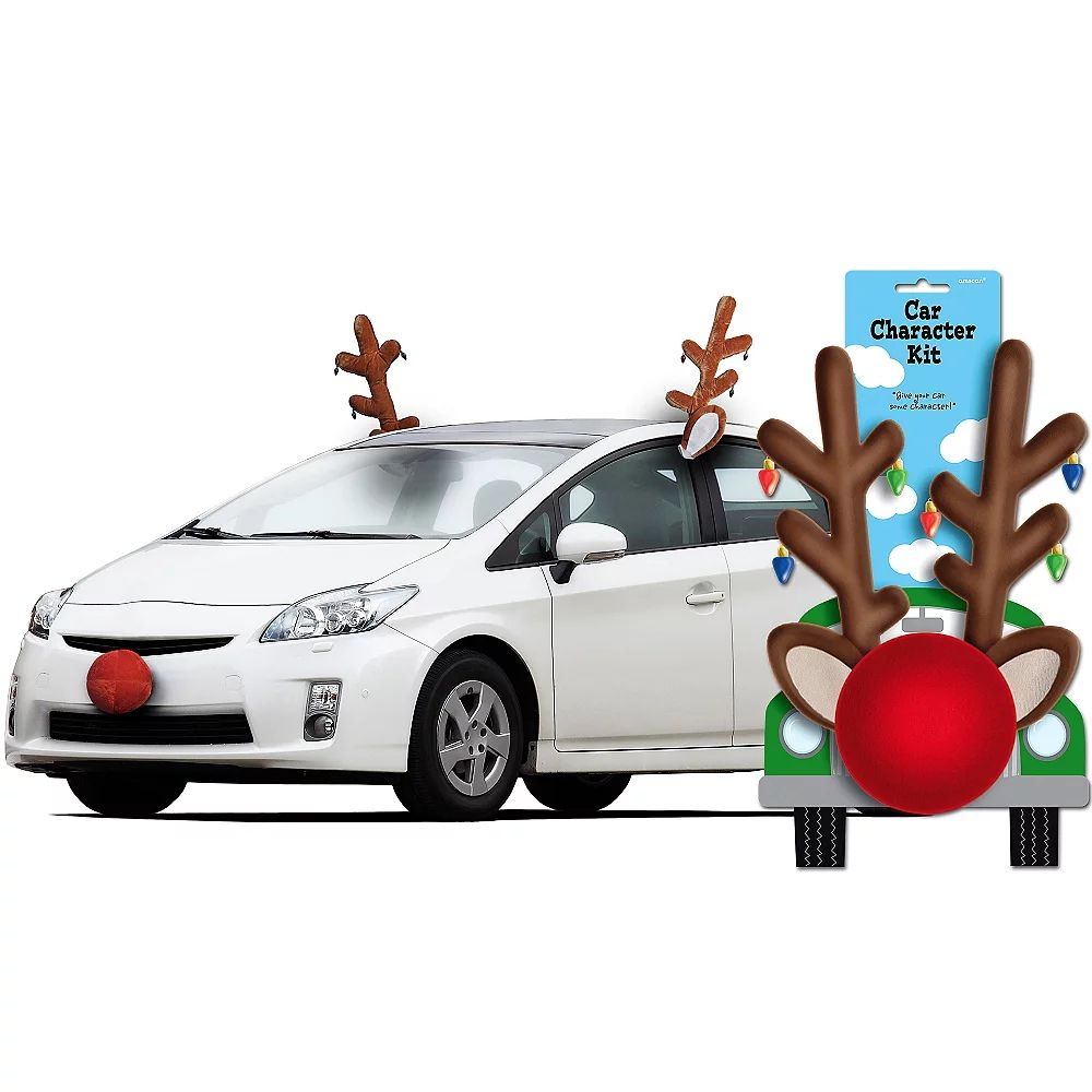 Xmas Car Truck Auto Reindeer Antlers Costume Dressアップ車Christmas Xmas Christmas Ornaments For Car