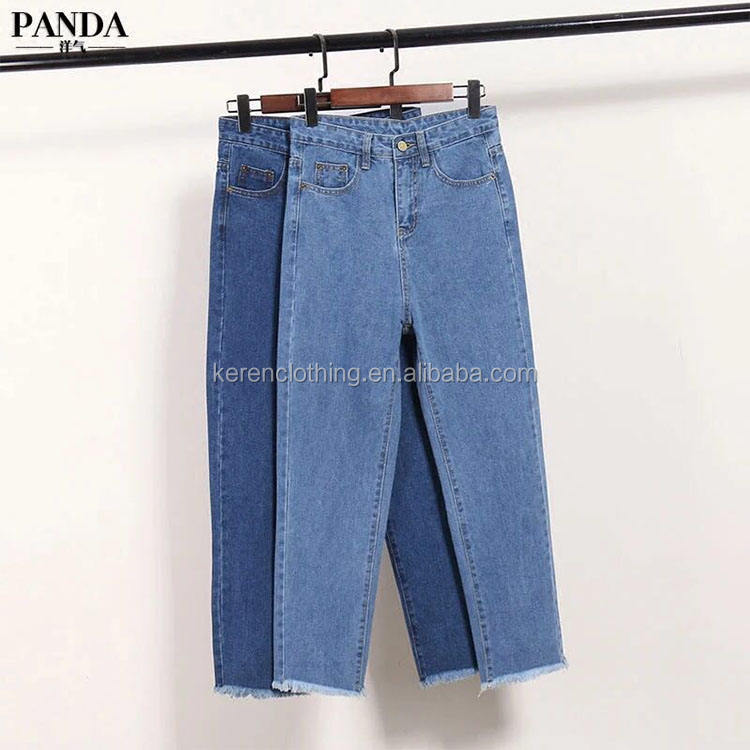 Low Price Denim Womans Jeans Apparel Stock