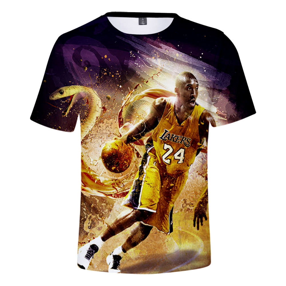 Newest Fashions Sublimation Printing Bryant Sport Wear Jerseys Men's T-shirts KB Mamba Superman 24 T Shirts