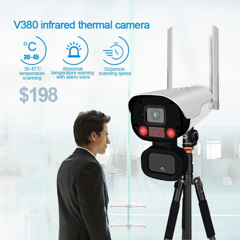 High accuracy fever detection camera V380 infrared thermal camera