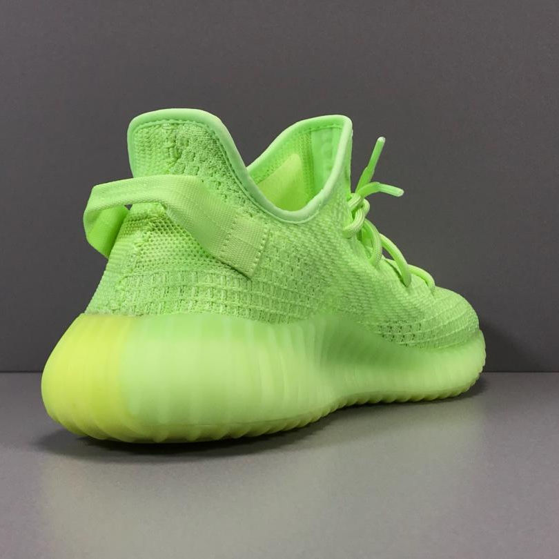 With Original Logo High Quality Casual Yezzy 350 V2 Schuhe Herren Sneakers Green Yeezi Fashion Trendy Glow In The Dark Shoes