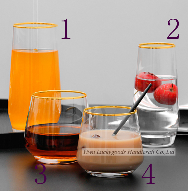 LG20190509-4 water glass cup set gift juice glass cup set gift