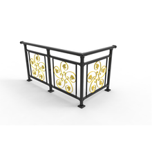 Outdoor Wrought Iron Stair Design Terrace Deck Aluminum Balcony Railing Price