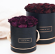 2020 Rose gold black round flower rose box/preserved flower box