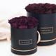 2020 Rose gold black round flower rose box/preserved flower box