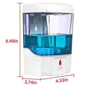 600ml Ir Sensor touchless foam soap gel automatic hand sanitizer dispenser stand