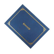 Certificate holder of factory customized design elegance, paper certificate folder