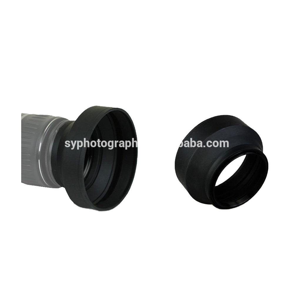 Quality DSLR Camera Accessories Rubber Lens Hood