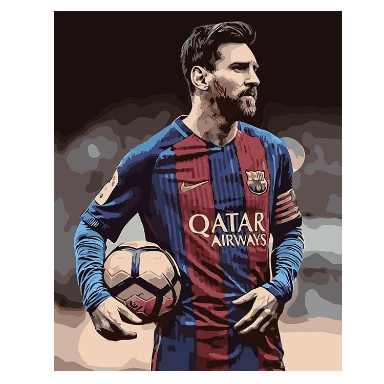 E-0075 Messi pattern 5D Diamond Painting Kits people Drawing Canvas HandPainted DIY Oil Pictures