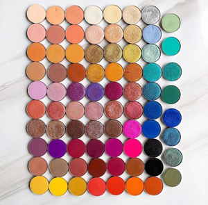 Hot Sale Super Pigment Small MOQ Matte Shimmer Glitter Duochrome colorful Hot Private Label Single Eyeshadow