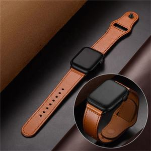 Vendita calda Cinturino 42 millimetri 44 millimetri Genuine Leather Watch Band Strap per apple Serie di orologi 1 2 3 4