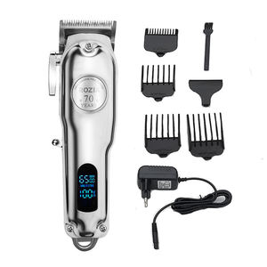 Professional salon Senior Clipper hair cut Metal body salon LCD display 70 year all metal barber buy hair clipper trimmer