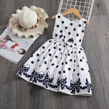 Kids Polka-Dot Dress Summer Sleeveless Bow Ball Gown Clothing Girls Baby Princess Dresses Children Clothes