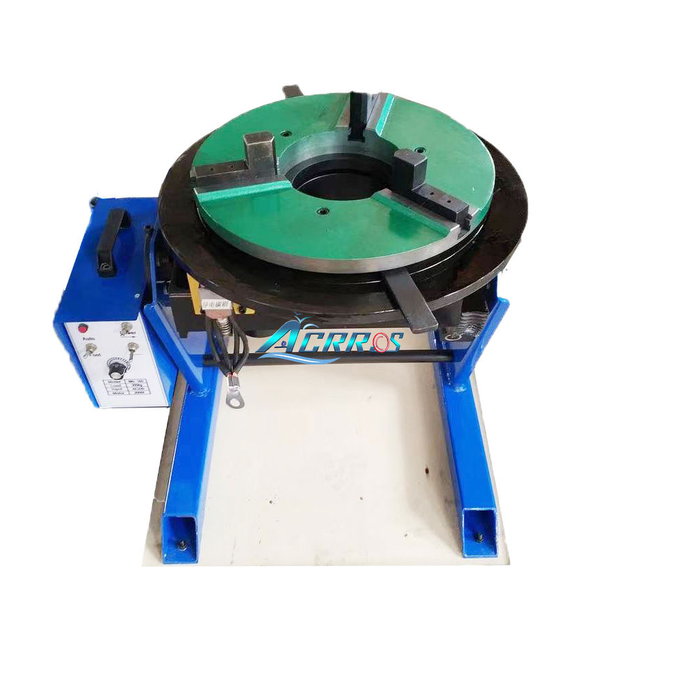300KG Welding Positioner 0-100 Turntable Timing Positioning for Welding Pipe Workpiece Rotary machine with 300mm chuck