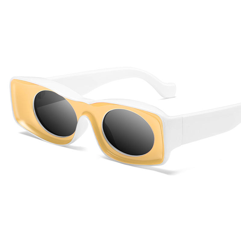 Fashion unisex newly promotional 2020 square retro candy color square sunglasses