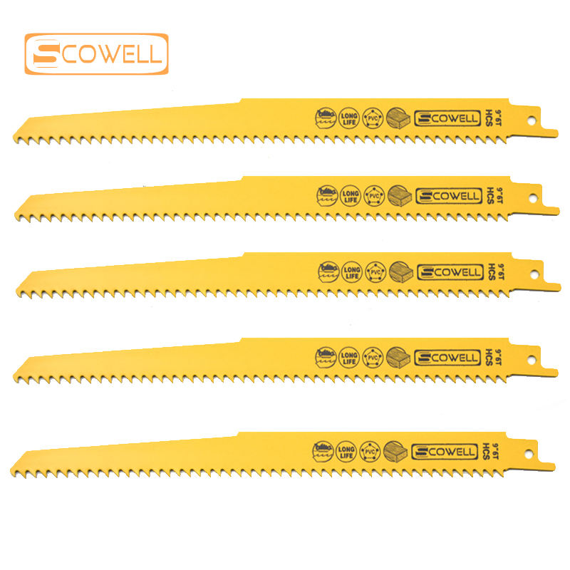 9 inch 6TPI Reciprocating saw blades wood Cutting Machine Sabre Saw Blades Demolition Jigsaw Blades