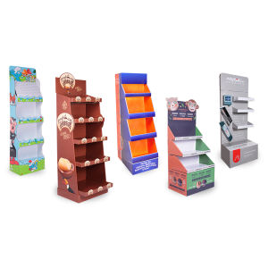 Custom Kartonnen Producten Display Stand, Golfkarton Vloer Display Rack, Papier Display Stand Plank Unit 2021