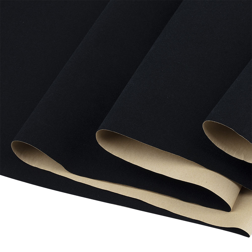 Graphic Customization China Black Nonwoven Self Adhesive Flocking Velvet Fabric Supplier For Funiturer