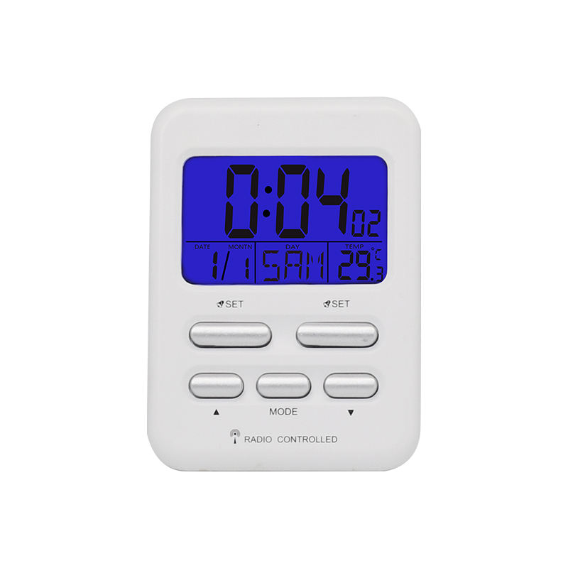 Smart Alarm Clocks for Bedrooms with Indoor Temperature Atomic Radio Controlled Digital Night Light Clock