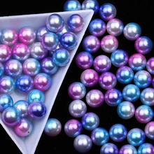 XULIN Best Prices Round 10mm Pearl Bead ABS Rainbow ABS Round Plastic Pearl Beads For Garment Accessories