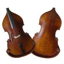 Chinese Famous Factory best bass instrument carved solid maple gloss brown double bass