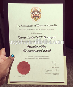 Australian University Certificate with Security features and notary stamps