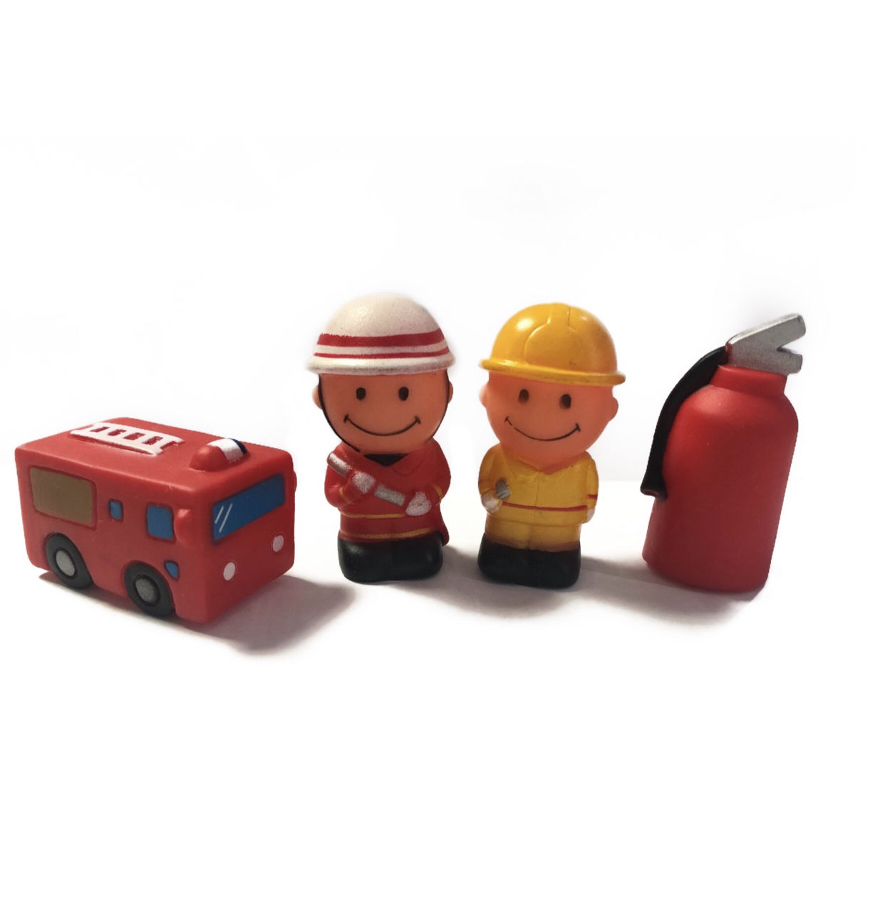 Plastic PVC Educational Rubber Fireman Fire Station For Baby Bath Time And Fun