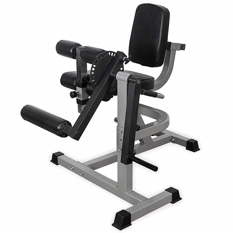 Zhaoyang Sports Fitness Adjustable Leg Curl/ Extension Machine Use with Weight Plates