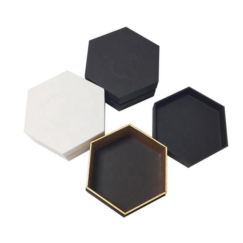 Wholesale Customized Material Cardboard Hexagon Gift Boxes With Insert Jewelry Box Paper Packaging