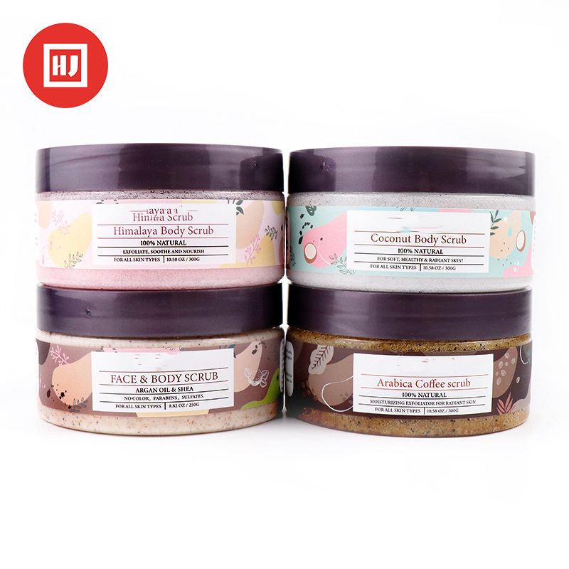 Private Label Natural Bath Salts Deep Cleansing Brown Sugar Scrub For Cellulite And Exfoliation
