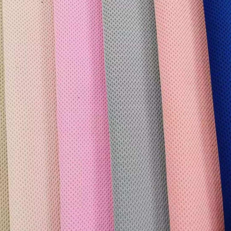 Strong Stretch clothing mesh fabric colorful knitted fabric for cloth cheap price