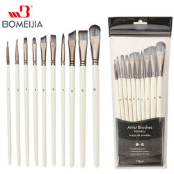 10pcs Artist Paint Brushes Set Face and Body Professional Mi