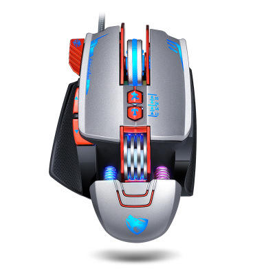 Thunder Wolf V9 Gaming Mouse E-sports Machinery Colorful Glowing Wired Mouse