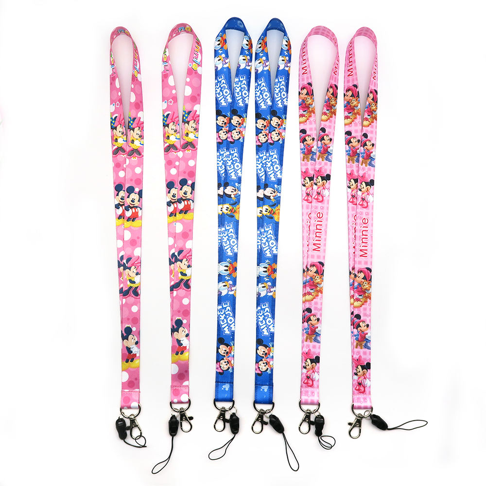 Factory Direct Custom Logo Polyester Anime Cartoon Lanyard