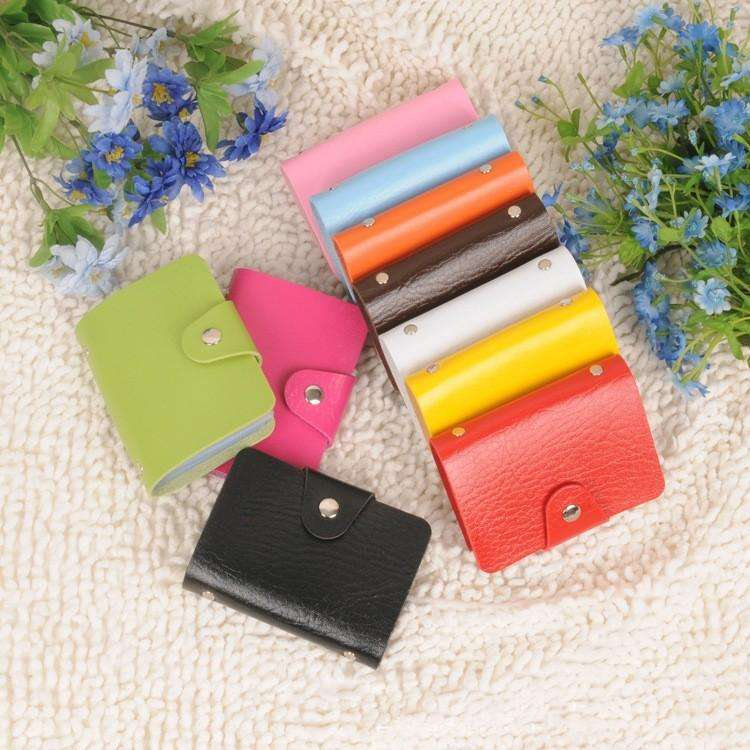 Hot Card holders 24 cards Pu leather credit ID business card holders porte carte credit case