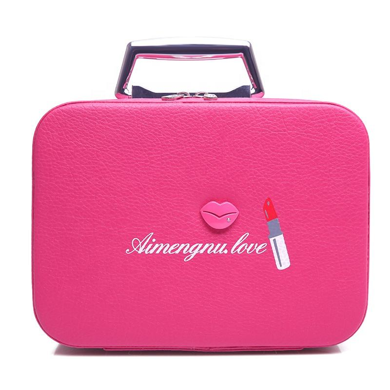2020 New Style Travel Makeup Cases Bag Cosmetic Case Train Bag, Large Capacity Portable Makeup Bag Stylish PU Cosmetic Case
