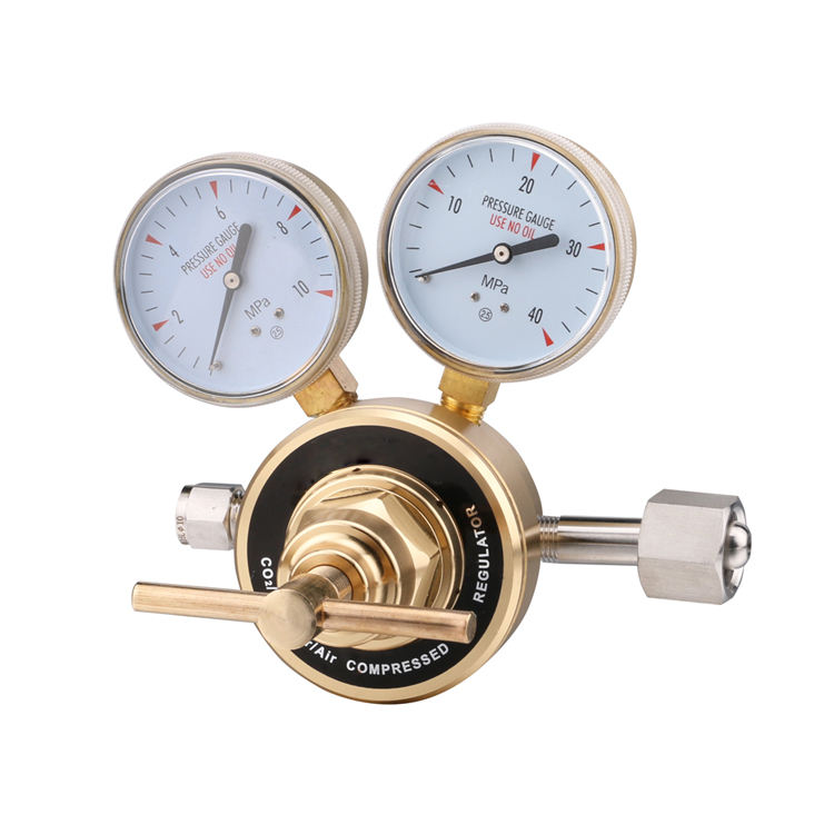 High pressure piston Brass Oxygen, propane, nitrogen piston type argon gas regulator